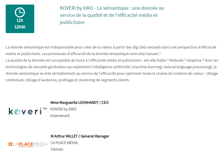 Conférence LaPlaceMedia x XiKO - Programmatique Expo 2016